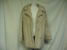 Mesdames Manteau-sans marque, taille 14, en fourrure crème, 50% acrylique, 50% chlorofibre - 1809