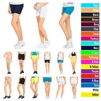 Seamless Stretch Legging  Shorts Solid Colors Spandex Workout Tight Bike Yoga