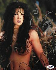 Chyna Signed WWE 8x10 Photo PSA/DNA COA DX Diva Playboy Wrestling Picture Auto F