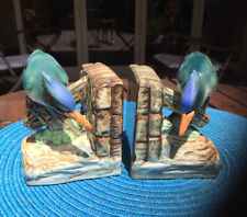 Vintage Kingfisher Hand Painted Bookends