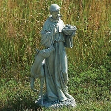 "24"" St Francis With Horse & Basket Outdoor Garden Statue Joseph's Studio # 90789"