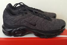 """Nike Air Max Plus Quilted Black/Black/Anthracite """"RARE"""" 806262-022 SIZE 9"""