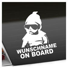 Wunschname on Board Baby Aufkleber Sticker 25 Farben Neon Matt