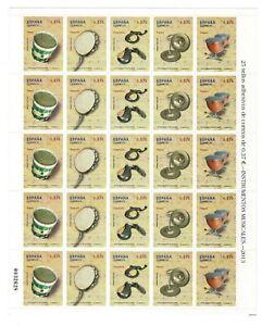 Pliego Instrumentos musicales nº 4781/4785 25 sellos adhesivos 2013 España leer