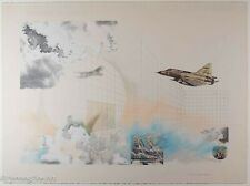 Beautiful Vintage Mixed Media Collage Print by Dianne Christensen Airplanes Sky