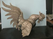 Pewter rooster large 8 inches long about 5 inches high
