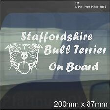 Staffordshire Bull Terrier Dog On Board Sticker-Car,Van-Staff Staffy Window Sign