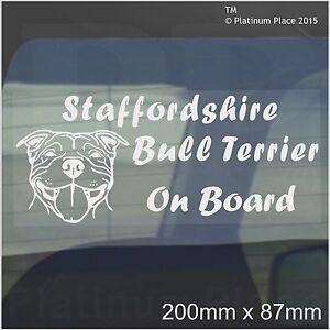 Staffordshire Bull Terrier Dog On Board Sticker-Car,Van-Staff Staffy Window Sign