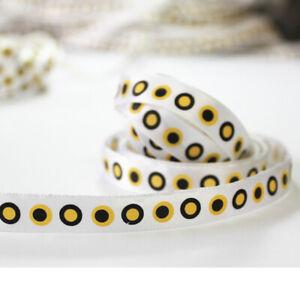 """7/8""""22mm Dots Satin Printed 20 Yards Ribbon Hairbow Charm Crafting"""