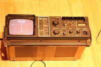 "VINTAGE PRINZ TCR 50 TCR50 5"" TV/ RADIO CASSETTE RECORDER & CLOCK"