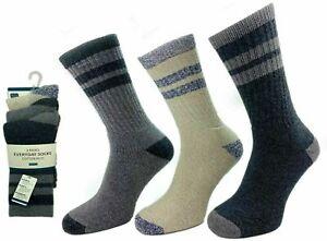 Mens HeavyDuty Cushioned Walking Socks Trekking Hiking Ski Work Boot Adults 6-11