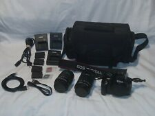 CANON REBEL T3i EOS 600D DIGITAL CAMERA BUNDLE 18-55 55-250MM LENS + ACCESSORIES