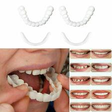 Snap On False Teeth Upper & Lower Dental Veneers Dentures Tooth Cover Set