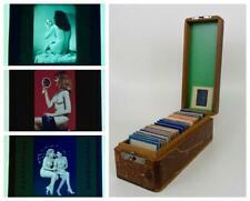 Vintage Lot 54 Pinup Erotica Models Adult Nude Women Slides B&W Color Case