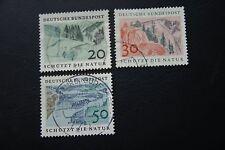 BRD, 1969, Schützt die Natur (3 Marken gestempelt)