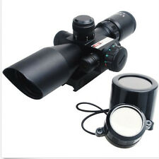 2.5-10x40 Tactical Rifle Scope Red Green Mil-dot Lumineux Laser Rouge Kit de montage