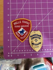 Wells Fargo Security Services badge & patch set