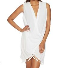Athena Women's Wrap Dress Swimsuit Cover Up White Size Small NWT