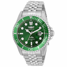 Invicta Men's Watch Pro Diver Green Dial Stainless Steel Bracelet 30611