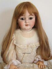 """perruque blond vénitien Jumeau®T28/29cm-poupée ancienne moderne-doll wig sz11"""""""