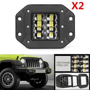 2Pcs 96W Spot Flood Combo LED Work Light SUV Truck Off-Road Bumper Reverse Lamps