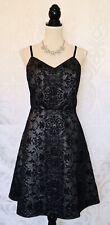 Maurices Metallic Gray Black Flocked Sleeveless Party Dress Size L