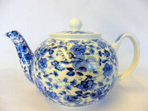 Blue Rose chintz design 2 cup teapot by The Abbeydale collection.