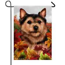Norwich Terrier Fall Leaves Flag