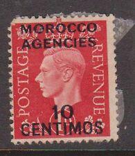 (TIA27) 1940 GB 1d red KGVI O/P Morocco Agencies 10centimos