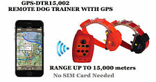 Waterproof Remote Dog training collar GPS tracker (2 in 1) FOR 2 dogs