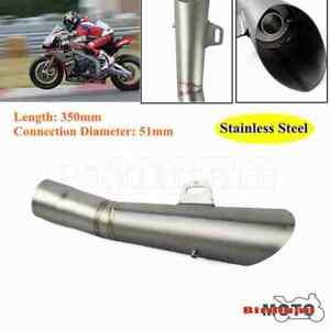 51mm Universal Motorcycle Exhaust Pipe Muffler Escape For Suzuki GSXR 600 750