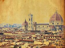 VINTAGE FLORENCE ITALY DISTRESSED PHOTO ART PRINT POSTER PICTURE BMP2097A