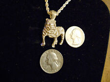 bling silver plated georgia bulldog mascot pendant charm chain hip hop necklace