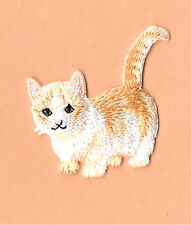 Cat - Kitten - Domestic - Pet  - Embroidered Iron On Applique Patch - B