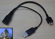 USB 3.0 A MICRO OTG HOST USB 2.0 Maschio Cavo di Alimentazione per Galaxy Note 3 + BK Stylus