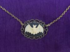 Crema gótico en Negro 25 X 18 mm Collar Camafeo De Murciélago