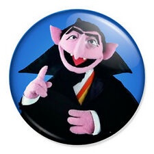 """The Count 25mm 1"""" Pin Badge Button Sesame Street Dracula Vampire Muppets"""