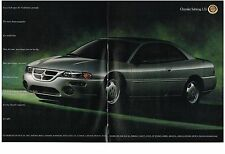 PUBLICITE ADVERTISING  1995  CHRYSLER   SEBRING LXI  (2 pages)