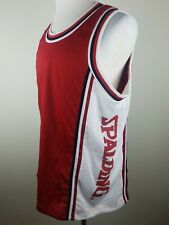 Vintage Spalding Athletic Apparel Mens M Sleeveless Tank Top Shirt Spellout Red