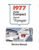 Bishko OEM Repair Maintenance Shop Manual Bound for Dodge Van, Voyager 1977