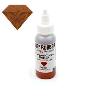 Chef Rubber Jewel Copper Cocoa Butter, 50g/1.7 Oz