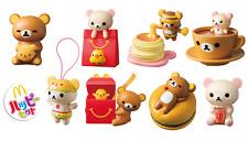 Rilakkuma McDonald's Happy Meal Toys Set of 8 Complete Stickers 2017 Japan F/S