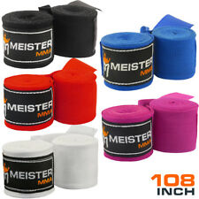 "JUNIOR 108"" ELASTIC HAND WRAPS (PAIR) - MEISTER MMA Mexican Boxing Women Kids"