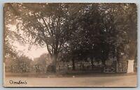 Watervliet New York~Rustic Fence~Round Tables Around Trees~Sign Tree~1918 RPPC