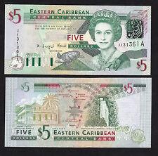Eastern Caribbean 5 Dollars (2003) Antigua P42a Queen banknote - UNC