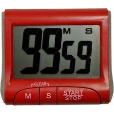 Promobo - Minuteur Magnet Cadran Digital Design Timer Electronique Cuisine Rouge