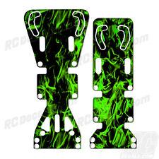 T-Maxx / E-Maxx INTEGY Skid Plate Protectors Digital Flames -Green-Traxxas
