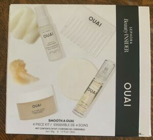 NEW OUAI Smooth A OUAI Sephora 4 Piece Set Hair Oil Condition Scalp Body Scrub