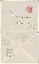 Africa Sud Occidentale 1916 Kg5 WW1 mariental tramite GIBEON a keetmanshoop franking 1D