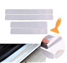 4x 1Set 3D Carbon Fiber Vinyl Decal Car Door Sill Step Protect Stickers NI J